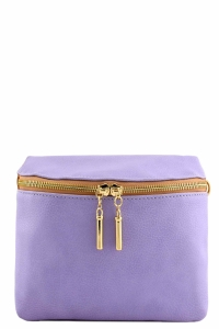 Vegan Leather Clutch Bag WUO33 37984 Lavander