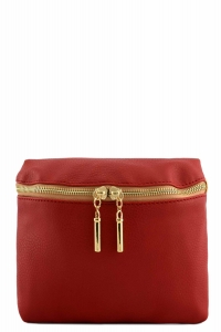Vegan Leather Clutch Bag WUO33 37984 Red