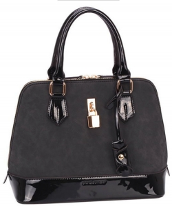David Jones Patent Leather Handbag CM3215 38019 Black