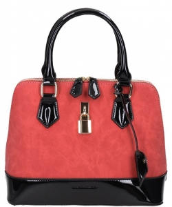 David Jones Patent Leather Handbag CM3215 38019 Red / Black