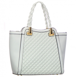 Faux Leather Shoulder Handbag JQ300 38057 White