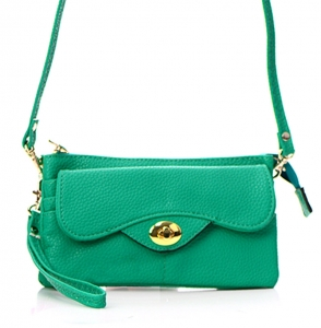 Faux Leather Clutch Wallet US1020 38100 Green