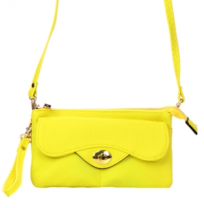 Faux Leather Clutch Wallet US1020 38100 Yellow