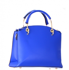 Faux Leather Handbag BH600 38107 Blue