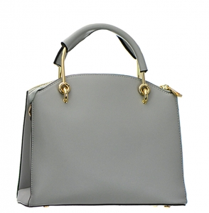 Faux Leather Handbag BH600 38107 Silver