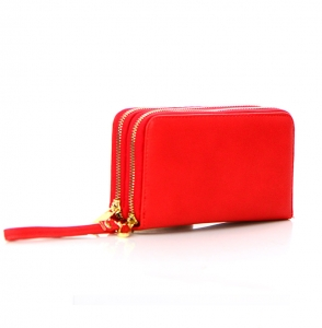 Faux Leather Wallet KB0006 38120 Red
