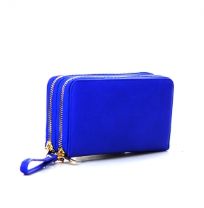 Faux Leather Wallet KB0006 38120 Royal Blue