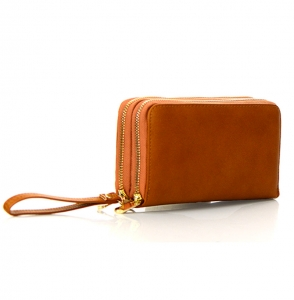 Faux Leather Wallet KB0006 38120 Tan