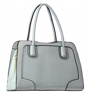 Rhinestones Faux Leather Shoulder Handbag L0273 38134 Silver