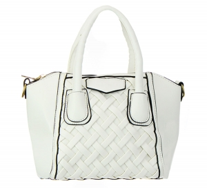 Faux Leather Handbag GBG99-1747JTCL White