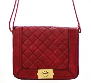 Faux Leather Clutch Purse 3124-6014 38170 Red