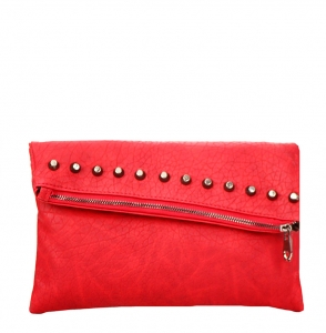 Faux Leather Clutch Purse YM1078 38174 Fuschia