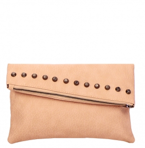 Faux Leather Clutch Purse YM1078 38174 Pink