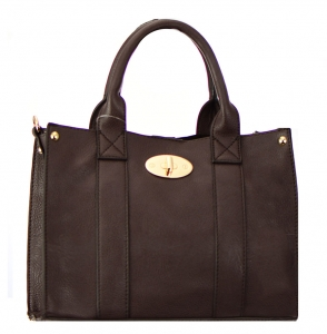 Two In one Faux Leather Handbag KS03S 38188 Brown