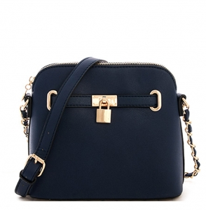 Padlock Messenger Shoulder Bag KF026 38200 Navy