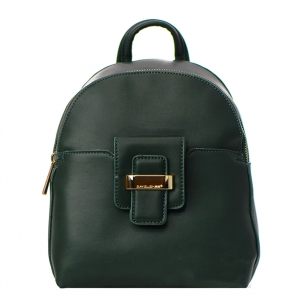David Jones Faux Leather Backpack 52033 38248 Dark Green