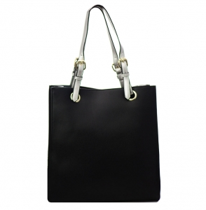 Faux  Leather Tote Bag 59136 38275 Black