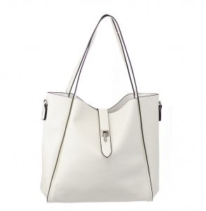 Faux Leather Tote Bag  768908 38299 White