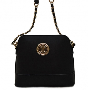 Faux Leather Crossbody Bag K026S 38326-Black