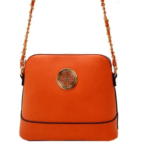 Faux Leather Crossbody Bag K026S 38326 - Coral