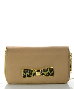Faux Leather Wallet MS106W 38473 Beige