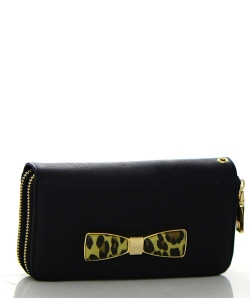 Faux Leather Wallet MS106W 38473 Black