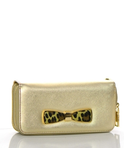 Faux Leather Wallet MS106W 38473 Gold