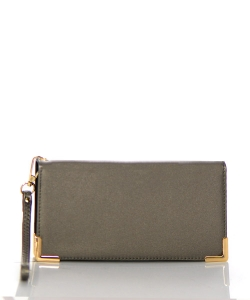 Faux Leather Wallet RO10010WA 38497 Pewter