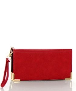 Faux Leather Wallet RO10010WA 38497 Red