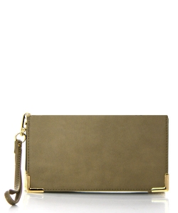 Faux Leather Wallet RO10010WA 38497 Taupe