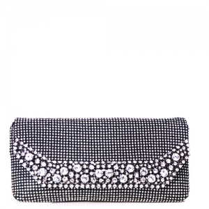 Rhinestone Clutch Purse 0002 38623 Black