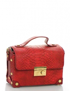 David Jones Faux Leather With Texture Patterned Clutch CM3288 38638 Red