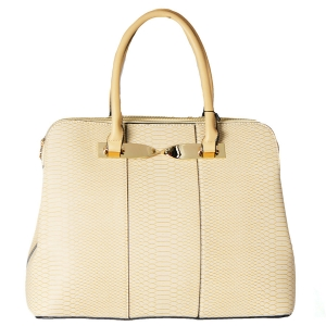 Animal Skin Print Handbag WJ154 38702 Beige
