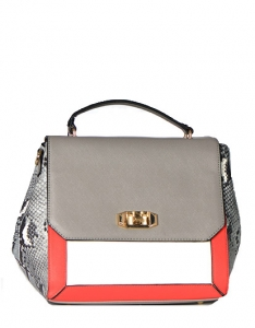 Animal Skin Print Handbag T1727 38779 Grey