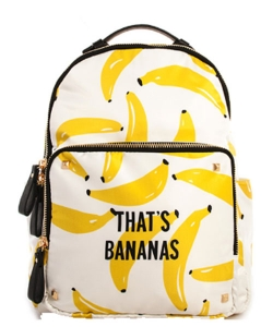 Fashion Trendy  Backpack BANANA