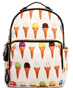 Fashion Trendy Princess Backpack ICE CREAM