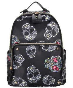 Fashion Trendy  Backpack SKULL