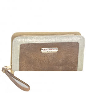 Wallet Faux Leather BB102x 38912 Bronze