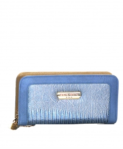 Animal Skin Wallet Faux Leather BB104 38916 S Blue