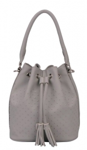 Bucket Faux Leather Handbag  CM3048 38941 Grey