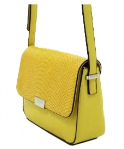 David Jones Body Crossbody Messenger  Faux Leather 5025-2 38957 YELLOW