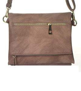 Crossbody  Messenger Bag Faux Leather Clutch  HS-3638 38991 Mocha