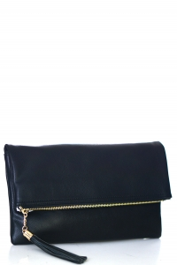 Faux Leather Clutch A048 39027 Black