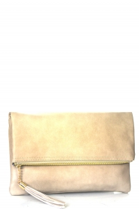 Faux Leather Clutch A048 39027 Brick