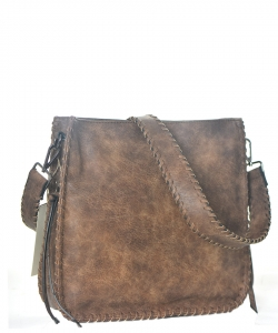 Western Messanger Hand Faux Leather Bga-5063 39037 Brown