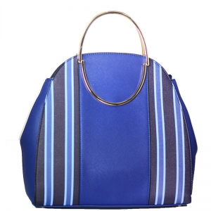 Vegan Leather Fashion Handbag P21458 39122 Blue