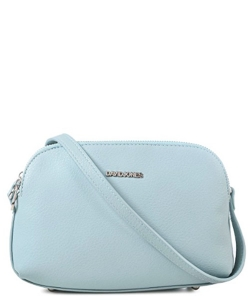 David Jones Body Crossbody Messenger  Faux Leather 5505-2 39219 Pale Blue