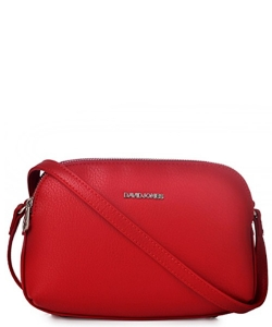David Jones Body Crossbody Messenger  Faux Leather 5505-2 39219 Red