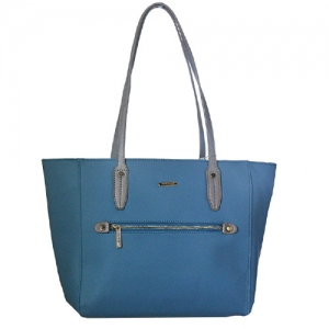 David Jones Faux Leather Handbag CM3304 39254 Blue