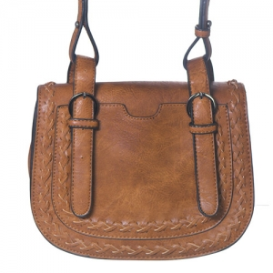 Faux Leather Messenger Bag BGW-46135 39276 Tan